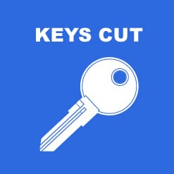 Sample furniture key which contains a code which we can use to provide a replacement key