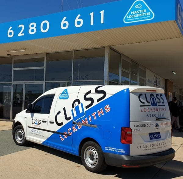 "CLASS Locksmiths ""CLASS 2"" - the latest addition to the CLASS Locksmiths fleet of service vehicles retains the instantly recognisable signage. Specialising in our free home checklist."