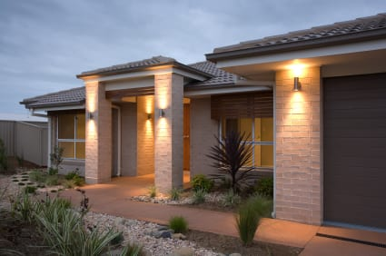 A typical house in Canberra with good quality locks on doors and windows and movemnet sensor operated outdoor lighting to deter burglars